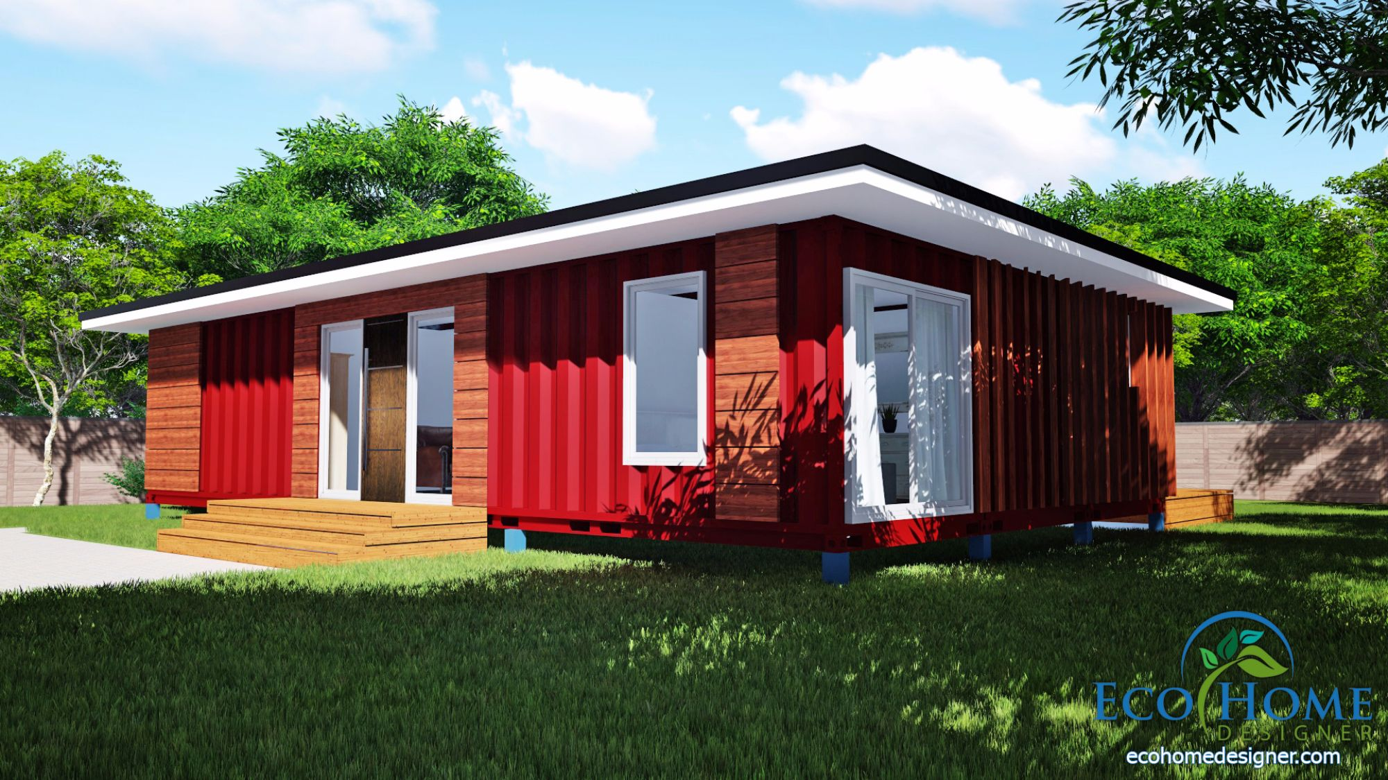 SCH11 3 x 40ft 2 Bedroom Container Home Plans  Eco Home Designer