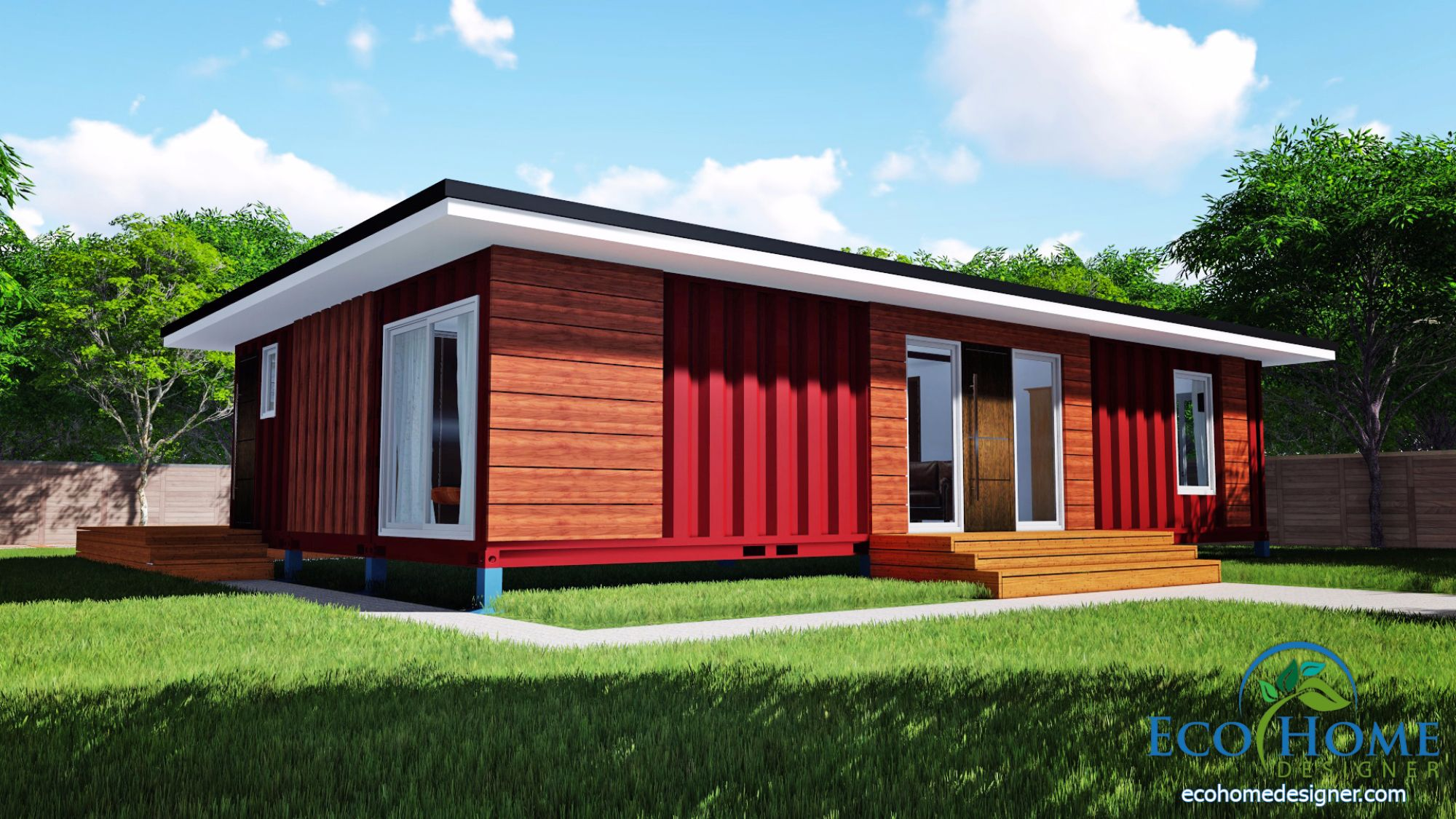 sch11 3 x 40ft 2 bedroom container home plans eco home For3 40 Ft Container Home
