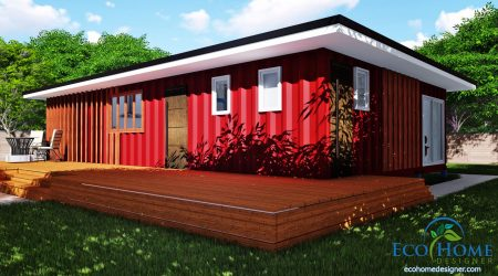 Sch11 3 x 40ft 2 bedroom container home plans eco home for Eco home plans