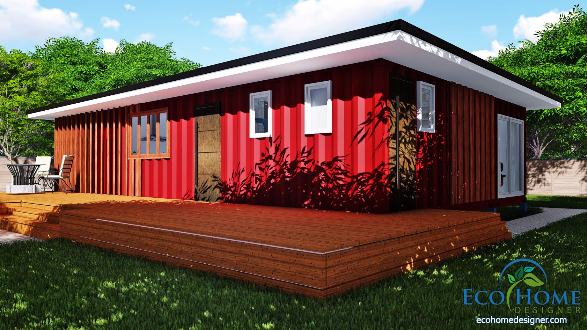 sch11 3 x 40ft 2 bedroom container home plans - Container Home Designer