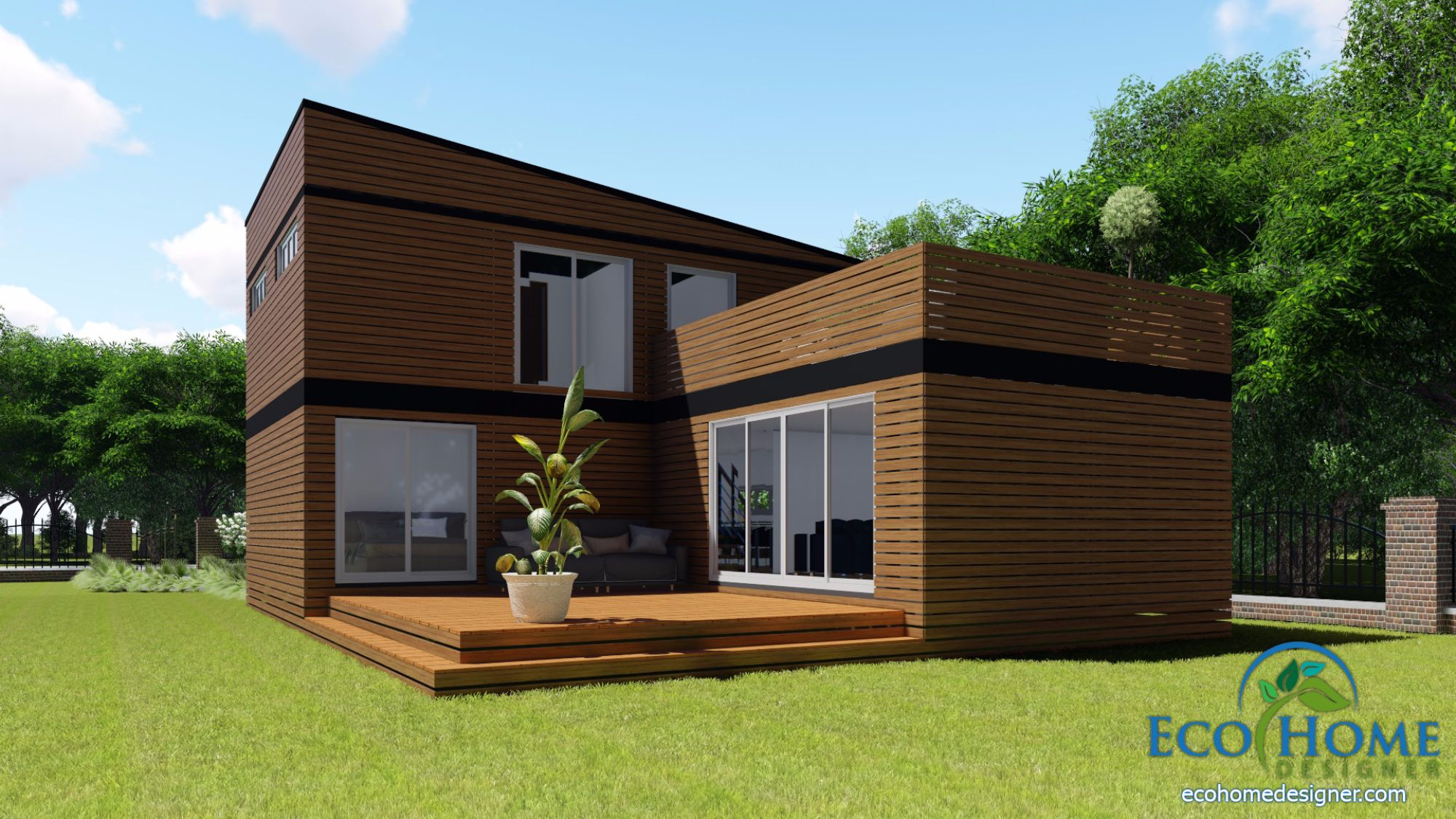 SCH17 10 x 20ft 2 Story Container Home Plans | Eco Home Designer