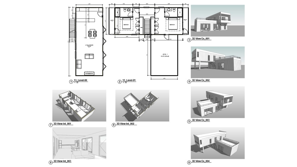 Custom Container Home Plan Image