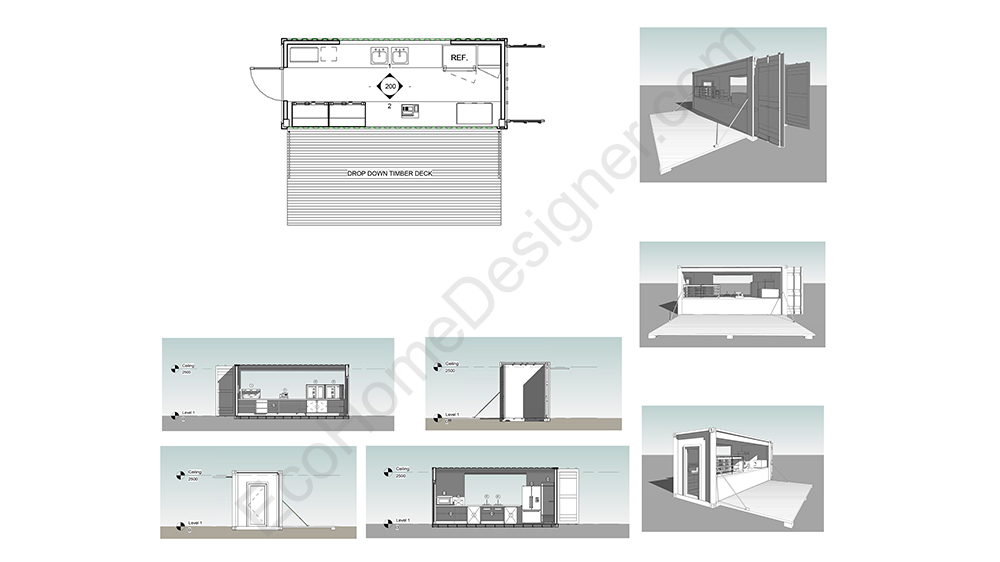 Custom container home plans eco home designer container cafe plans australia malvernweather Image collections