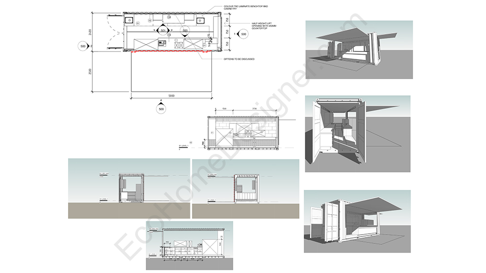 Custom container home plans eco home designer for Container home designs australia