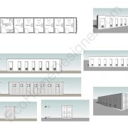 shipping container toilet plans