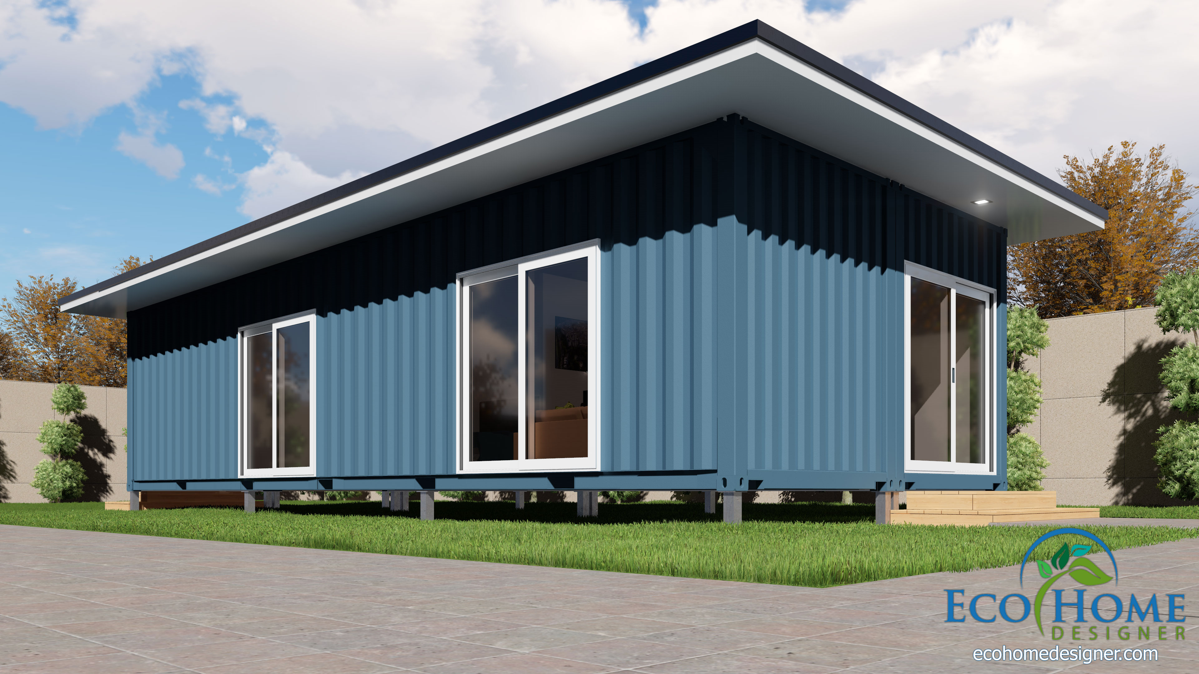 SCH2 2 x 40ft Single Bedroom Container Home | Eco Home Designer