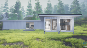 three bedroom container home plans