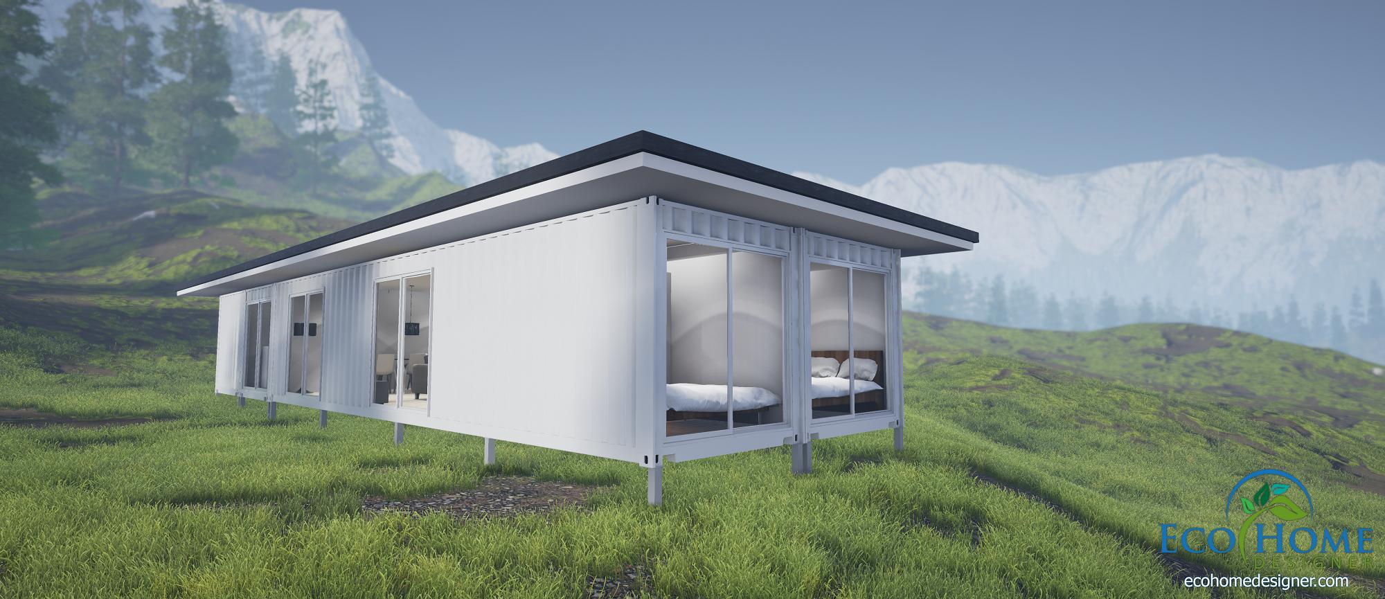 sch4-4-x-40ft-three-bedroom-container-home- ... & SCH4 4 x 40ft Three Bedroom Container Home   Eco Home Designer