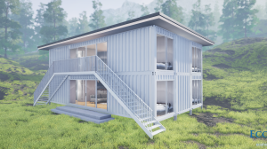 double story container duplex plans