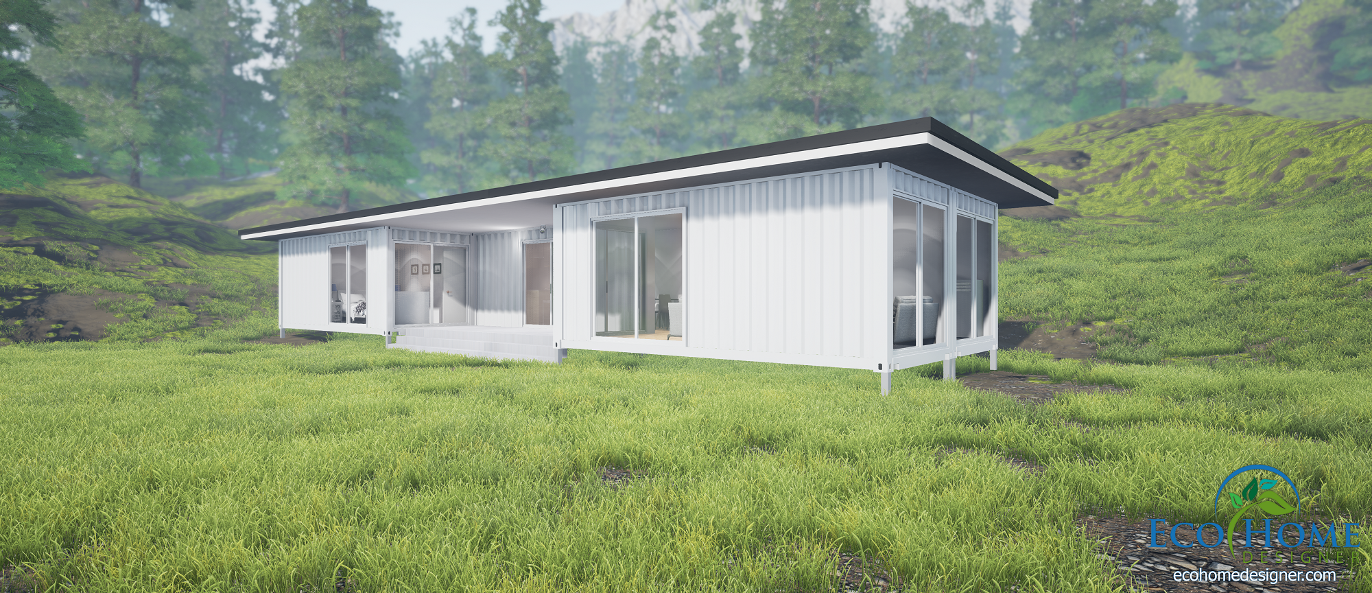 Sch7 5 x 20ft double bedroom container home eco home designer - Bithcin shipping container house ii ...