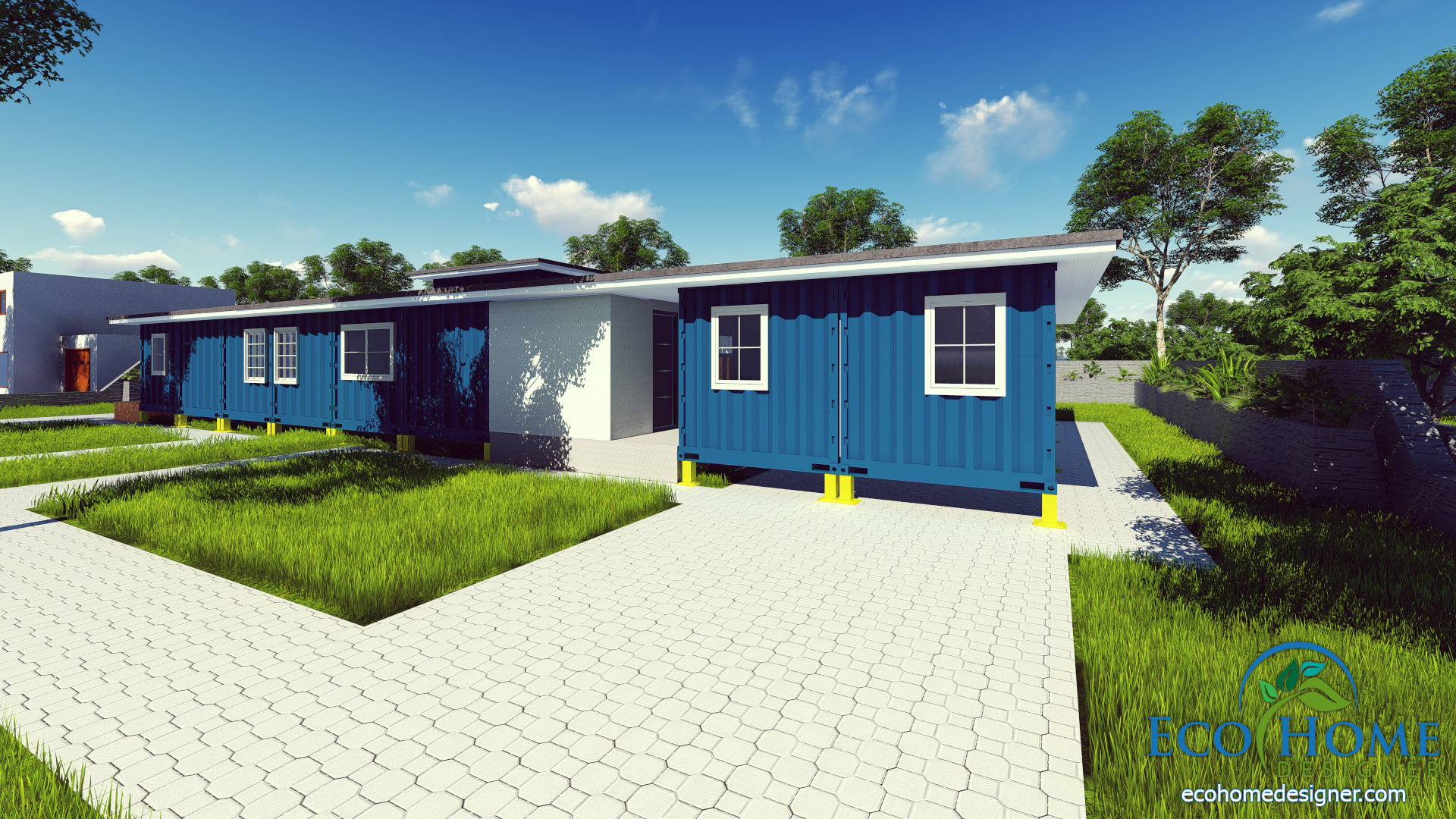 Sch9 8 x 40ft container house andejong design eco home for Village craft container home