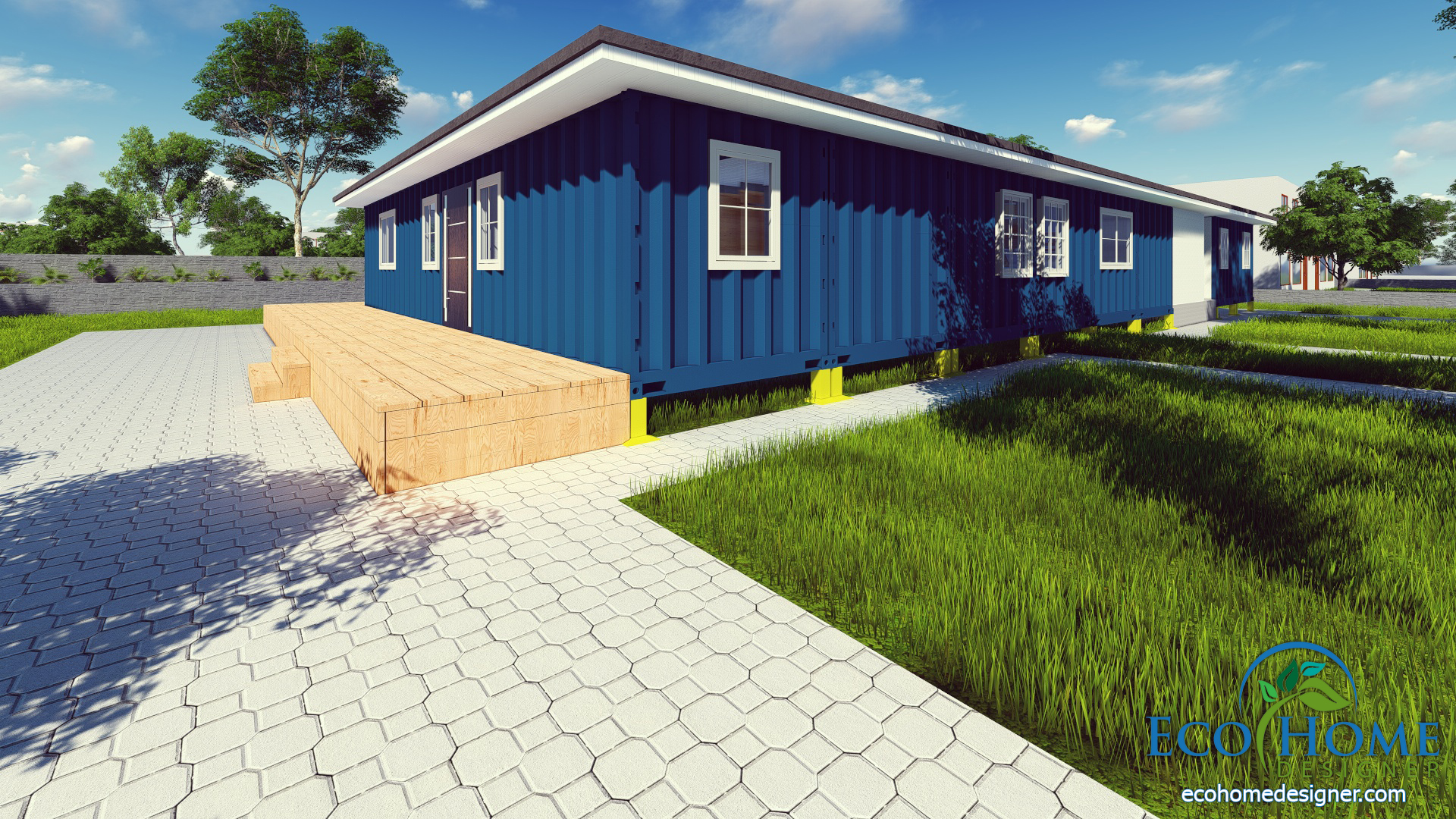 Sch9 8 X 40ft Container House Andejong Design Eco Home