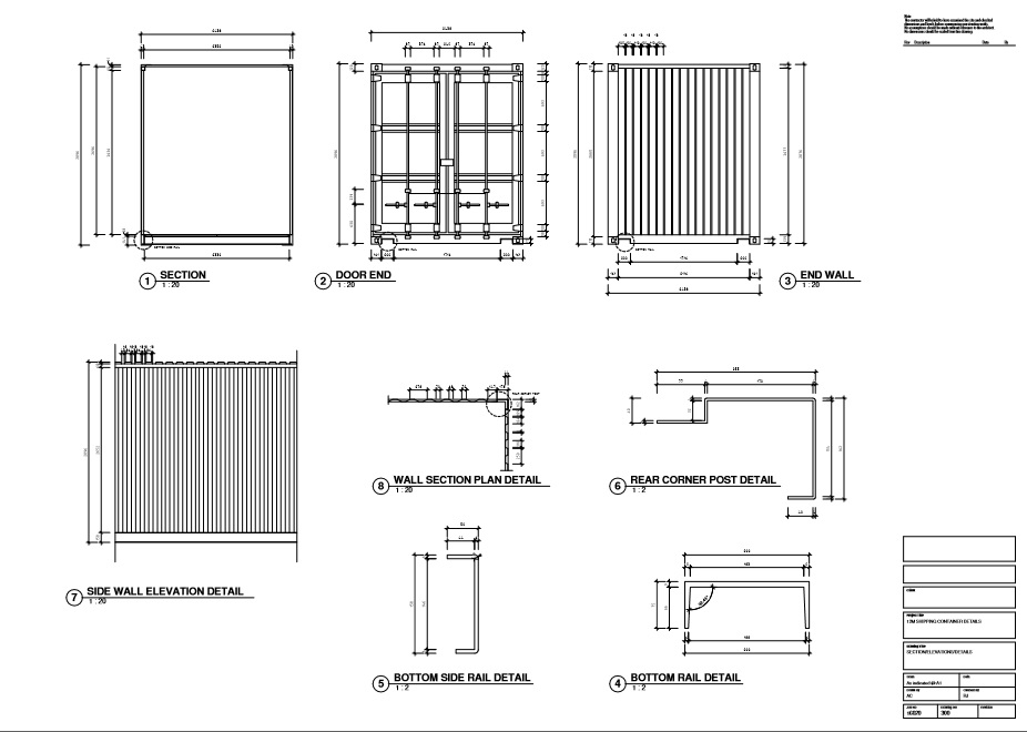 M Highcube Container Plans on drawing intermodal shipping container dimensions