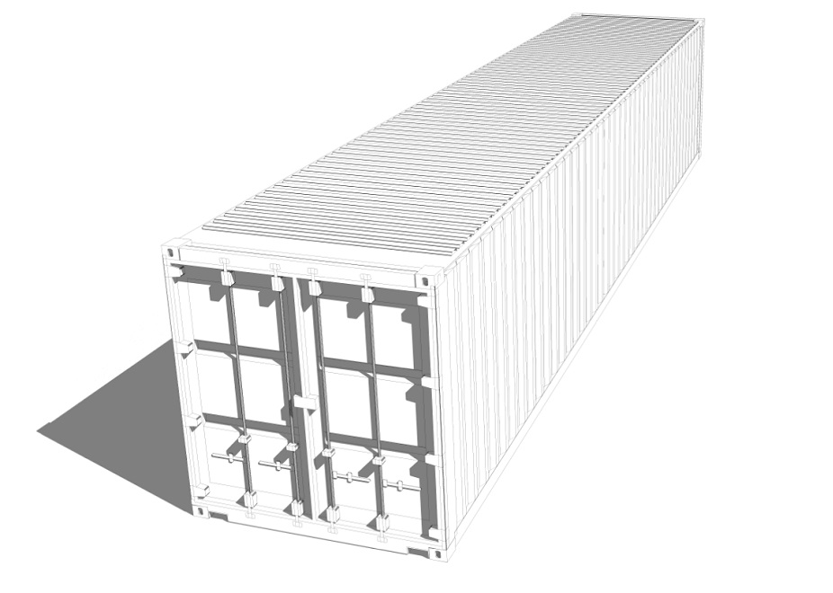 Shipping Container Technical Drawing 12m 40ft Eco