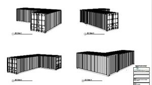 2 x 20ft shipping containers b1