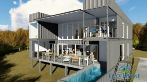 Picture of shipping container mansion
