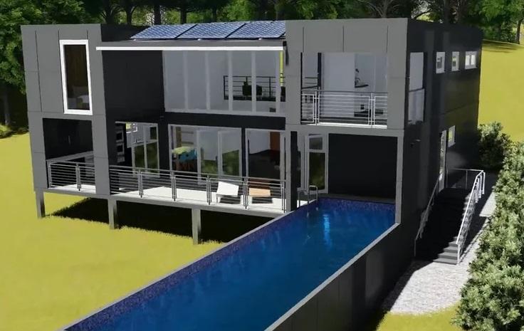 Sch23 12m x custom container home eco home designer for Home blueprints for sale